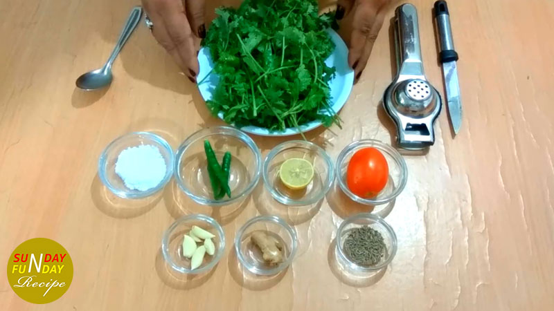 green chutney ingredients