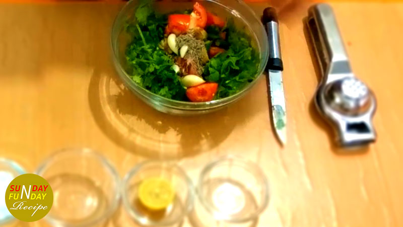 how to make Green Chuteny at home 3