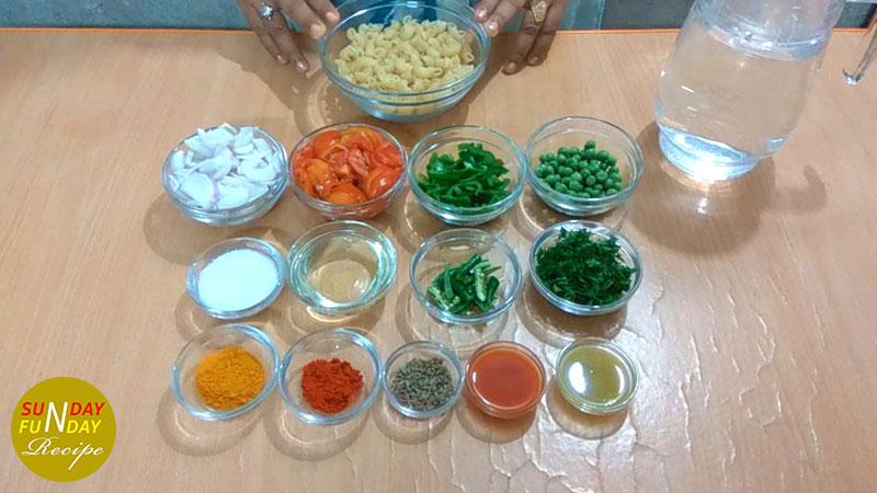 macaroni recipe indian Ingredient
