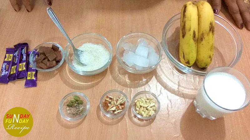 banana shake ingredients