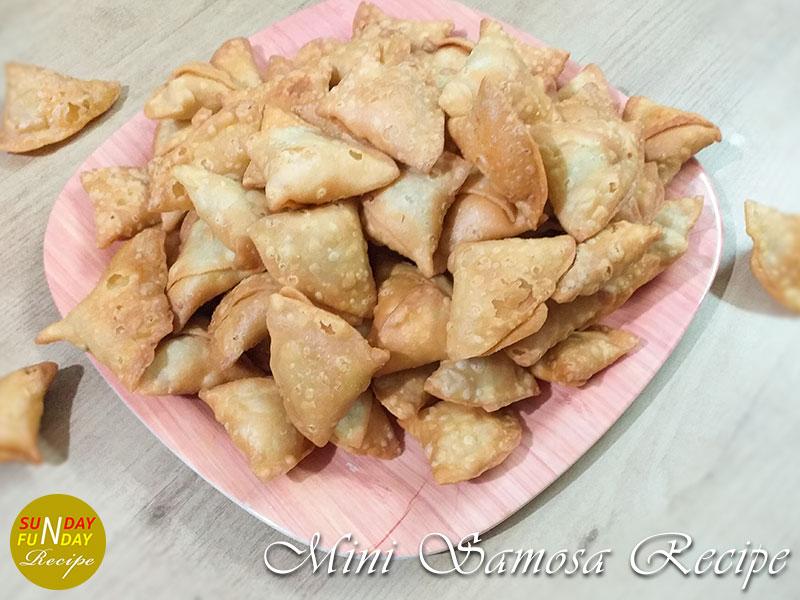 recipe of mini samosa
